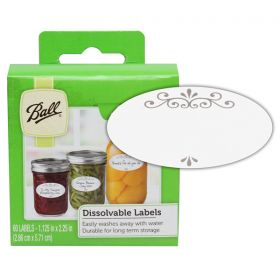 Dissolvable Canning Jar Labels - Box of 60