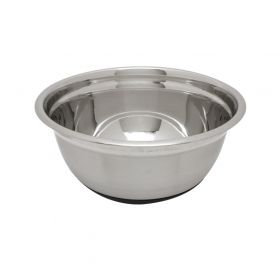 Stainless Steel Mixing Bowl with Rubber Base - 8qt