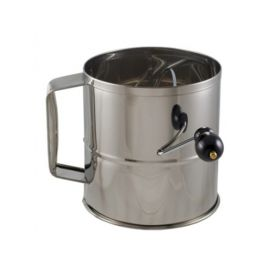 stainless steel flour sifter - 8 cup